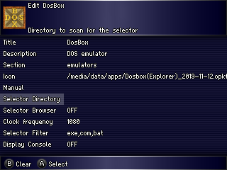 DOSBox Launcher options